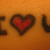I love you symbols tattoo