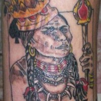 Indian king of spades tattoo