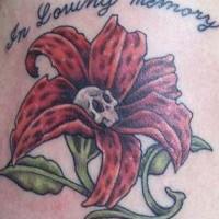 Dead flower in loving memory tattoo