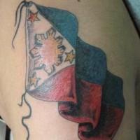 bandiera internazionale tatuaggio