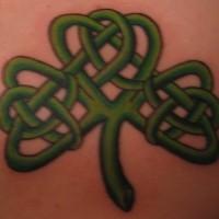 shamroks nodo celtico in trifoglio tatuaggio
