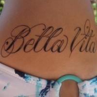 Bella vita Italian beautiful life tattoo