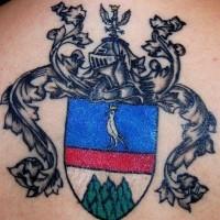Italian family crest tattoo