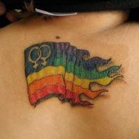 bandiera gay tatuaggio