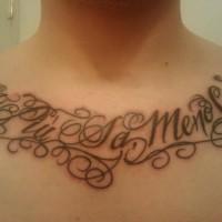 Italian tattoo on chest
