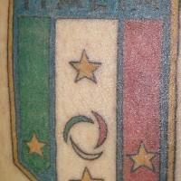 Italy football team crest tattoo