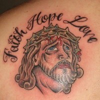 Faith hope love and jesus tattoo