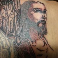 Black ink jesus tattoo