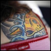 Koi fish head tattoo