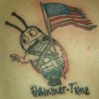 Hammer-Time Marienkäfer USA Soldat