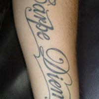Classic carpe diem tattoo