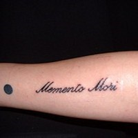 Small memento mori tattoo