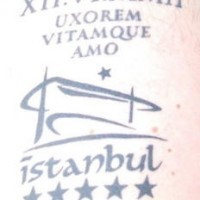 Istanbul advertisment black ink tattoo