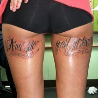 Latin writings free hole tattoo