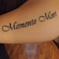 Memento mori arm tattoo
