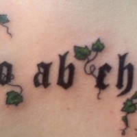 Ordo ab chaos with ivy tattoo