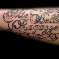 Mie belle ragazze tattoo