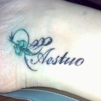 Aestuo fleu de lis tattoo