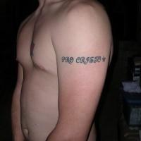 Pro cristo writing tattoo