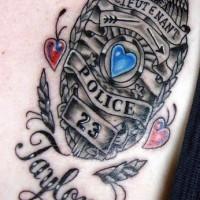 Police lieutenant symbol tattoo