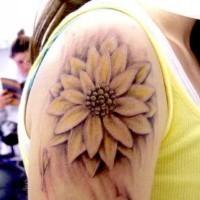 Tender lotus flower girly tattoo