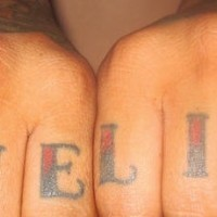 Love life knuckle tattoo