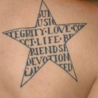 Love loyalty friendship in star tattoo