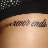 Love never ends tattoo