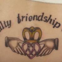 Loyalty friendship love irish tattoo
