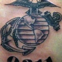 Usmc 0311 corps tattoo