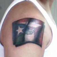 Mexican flag 3d tattoo