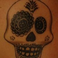 Crazy sugar skull tattoo