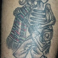 Mexican skeleton with bottle tattoo