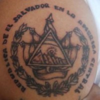 Mexican goverment symbol tattoo