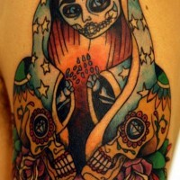 Mexican zombie tattoo