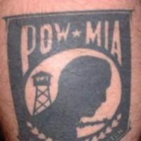 Pow mia military flag tattoo