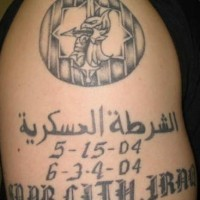 Military memorial tattoo from iraq