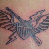 Simple america military tattoo