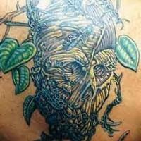 Wooden treant monster tattoo
