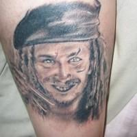 Il capitan jack sparrow tatuaggio