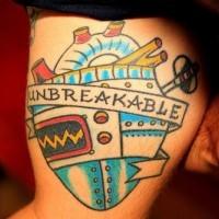 Infrangibile cuore classico tatuaggio