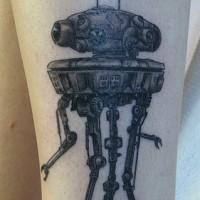 Scout droid dal film Guerre stellari tatuaggio