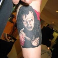 Jack nicholson dal luccichìo con ascia tatuaggio