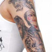 Quatro megliori malvagi tatuaggio sul braccio