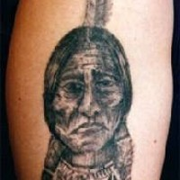 Sitting bull indian chief tattoo