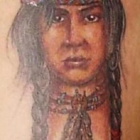 Native american girl tattoo