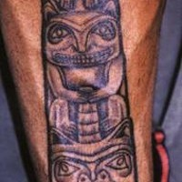 Indian animal totem pole tattoo