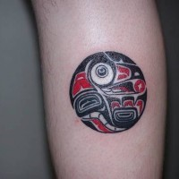 Native american tribal symbol tattoo