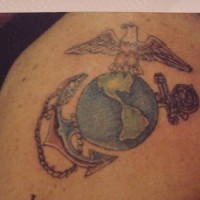 American navy symbol tattoo