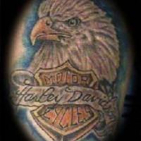 American eagle harley davidson tattoo